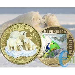 Italia 2021 - 5 euro Mundo Sostenible - Oso Polar