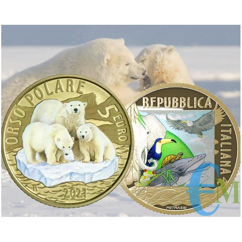 Italy 2021 - 5 euro Sustainable World - Polar Bear