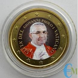 50 centavos del Vaticano coloreados por el Papa Juan Pablo I