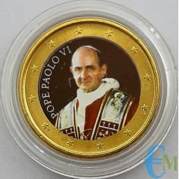 Vaticano 50 centesimi colorato di Papa Paolo VI