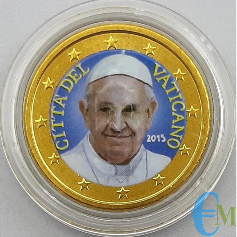 Vaticano 50 centesimi colorato di Papa Francesco