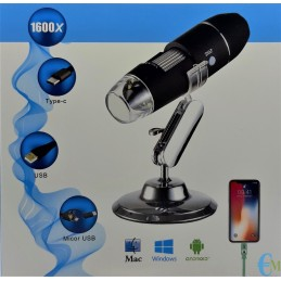 Digital Microscope with 1600x 8 LED magnification for Android, Windows and Mac
