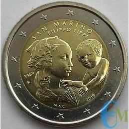 San Marino 2019 - 2 euro 550° morte Filippo Lippi Senza Folder