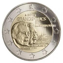 Lussemburgo 2012 - 2 euro 100° anniversario della morte del granduca Guglielmo IV.