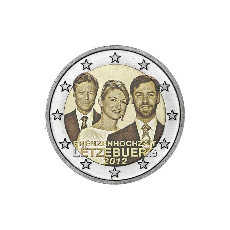 Lussemburgo 2012 - 2 euro matrimonio dell'erede al trono Guglielmo di Lussemburgo e Stephanie de Lannoy.