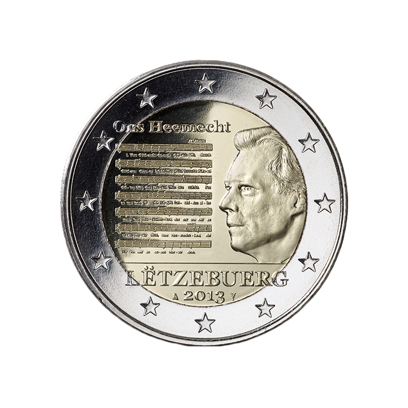 Lussemburgo 2013 - 2 euro Inno nazionale.