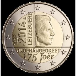 Lussemburgo 2014 - 2 euro 175° anniversario dell'Indipendenza del Lussemburgo.