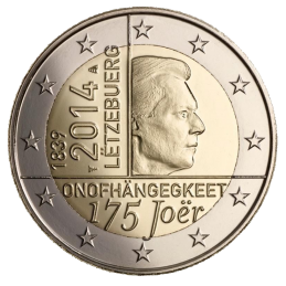 Luxemburgo 2014 - 2 euros 175 ° Independencia de Luxemburgo