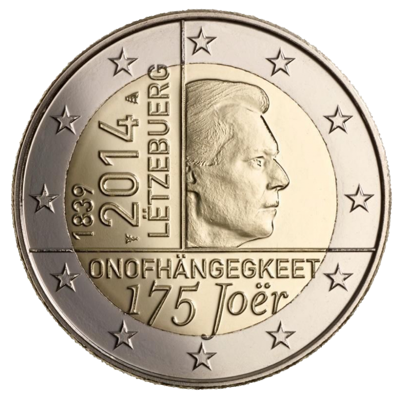 Luxembourg 2014 - 2 euros 175° Indépendance du Luxembourg