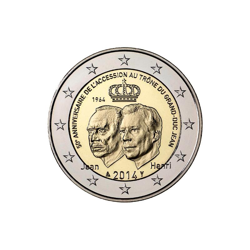 Luxembourg 2014 - 2 euro 50th throne of Grand Duke Jean