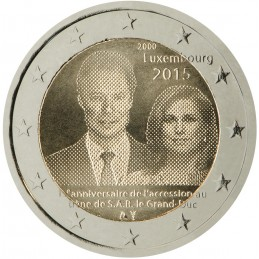 Lussemburgo 2015 - 2 euro 15° anniversario dell'ascesa al trono del granduca Enrico.