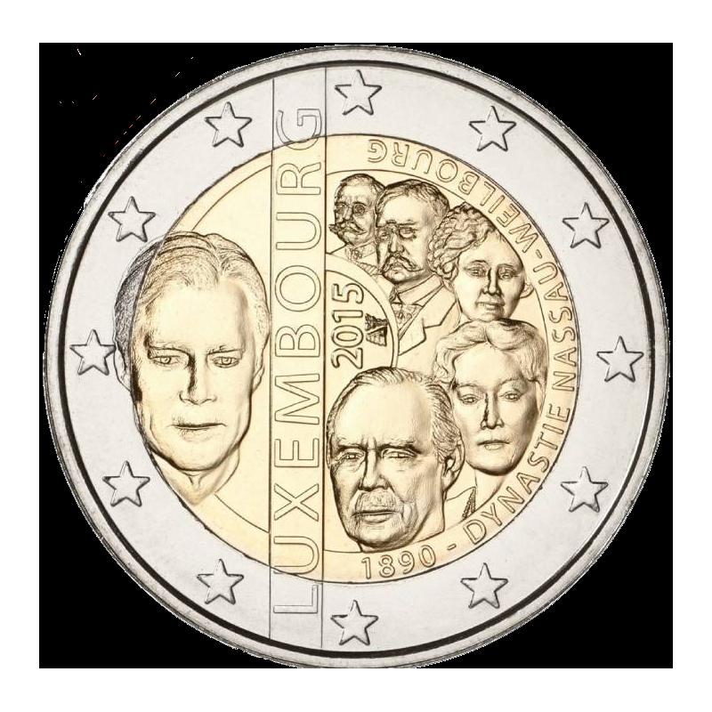 Lussemburgo 2015 - 2 euro 125° anniversario della dinastia Nassau-Weilburg.