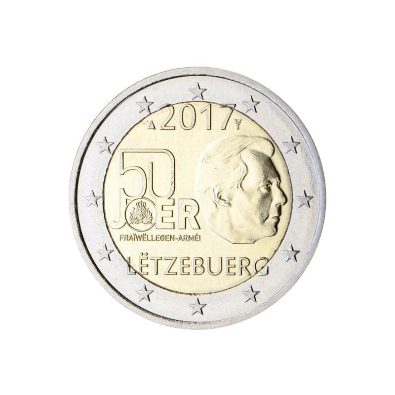 Lussemburgo 2017 - 2 euro 50° anniversario dell'introduzione del servizio militare volontario nell'esercito lussemburghese.