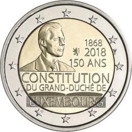 Lussemburgo 2018 - 2 euro 150° anniversario della costituzione lussemburghese.