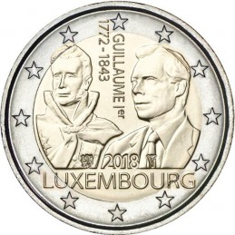 Luxembourg 2018 - 2 euros 175e anniversaire de la mort du Grand-Duc Guillaume Ier.