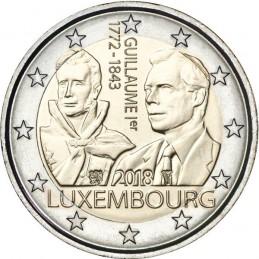 Luxemburgo 2018 - 2 euros 175 aniversario de la muerte del Gran Duque Guillermo I.