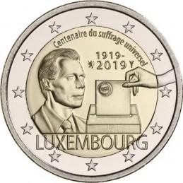 Lussemburgo 2019 - 2 euro 100° anniversario del suffragio universale in Lussemburgo.