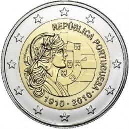 Portogallo 2010 - 2 euro commemorativo 100° anniversario della Repubblica Portoghese.