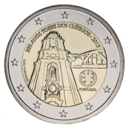 Portugal 2013 - 2 euro commemorative 250th anniversary of the construction of the Torre dos Clerigos.