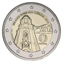 Portugal 2013 - 2 euros conmemorativos del 250 aniversario de la construcción de la Torre dos Clérigos.
