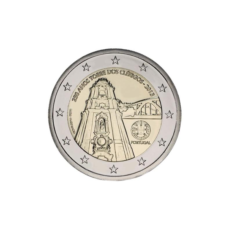 Portugal 2013 - 2 euros commémorative du 250e anniversaire de la construction de la Torre dos Clerigos.