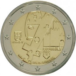 Portugal 2012 - 2 euros Guimaraes, Capitale Européenne de la Culture