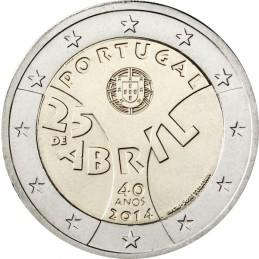 Portugal 2014 - 2 euros conmemorativos del 40 aniversario de la Revolución de los Claveles.