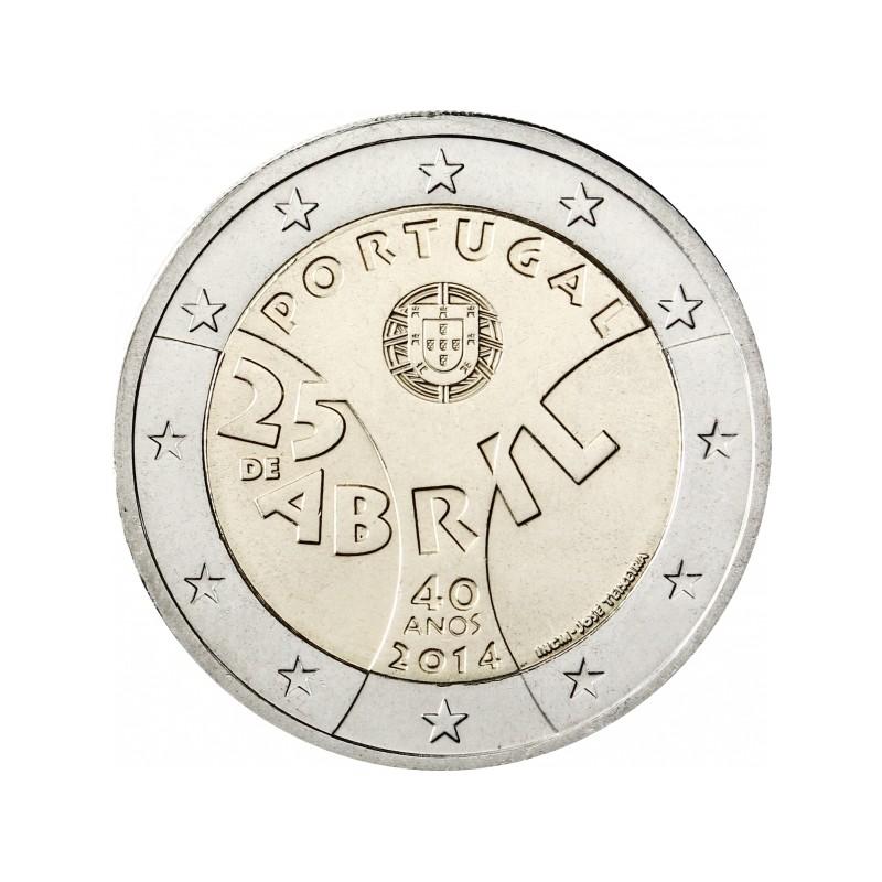 Portugal 2014 - 2 euros commémorative du 40e anniversaire de la Révolution des Carillets.