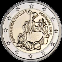 Portogallo 2014 - 2 euro commemorativo anno internazionale dell'agricoltura familiare.