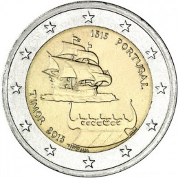 Portugal 2015 - 2 euro 500 ° of the first contacts with Timor