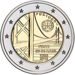 Portugal 2016 - 2 euros 50e anniversaire du pont du 25 avril