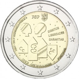 Portogallo 2017 - 2 euro commemorativo 150° anniversario dalla fondazione del corpo di polizia portoghese.