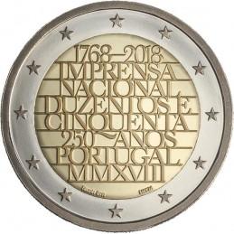 Portogallo 2018 - 2 euro commemorativo 250° anniversario della zecca portoghese.