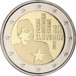 Slovenia 2011 - 2 euro commemorativo 100° anniversario della nascita di Franc ''Stane'' Rozman
