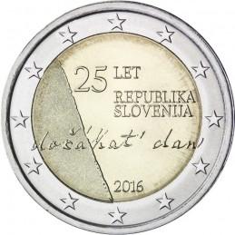 Slovenia 2016 - 2 euro commemorativo 25° anniversario dell'Indipendenza della Repubblica di Slovenia.