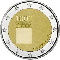 Slovenia 2019 - 2 euro commemorativo 100° anniversario della fondazione dell'Università di Lubiana.