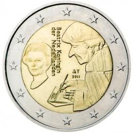 Olanda 2011 - 2 euro commemorativo 500° anniversario della Pubblicazione dell'Elogio della follia di Erasmo da Rotterdam.