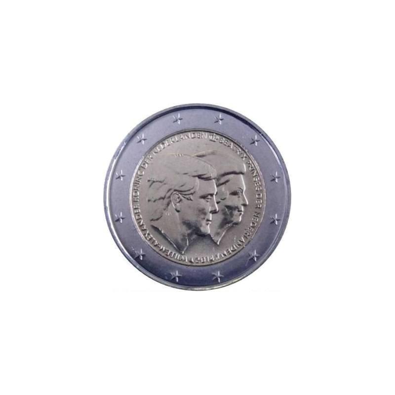 Olanda 2014 - 2 euro commemorativo 1° anno di regno del re Guglielmo Alessandro e la principessa Beatrice.