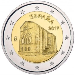 Espagne 2017 - 2 euros Église de Santa Maria del Naranco - UNESCO