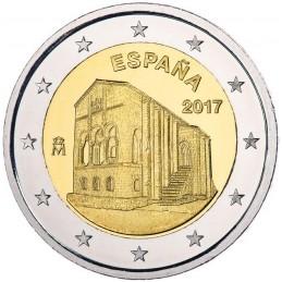 España 2017 - 2 euros Iglesia de Santa María del Naranco - UNESCO