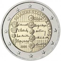 Austria 2005 - 2 euro commemorativo 50° anniversario delle firme del Trattato dello Stato austriaco.