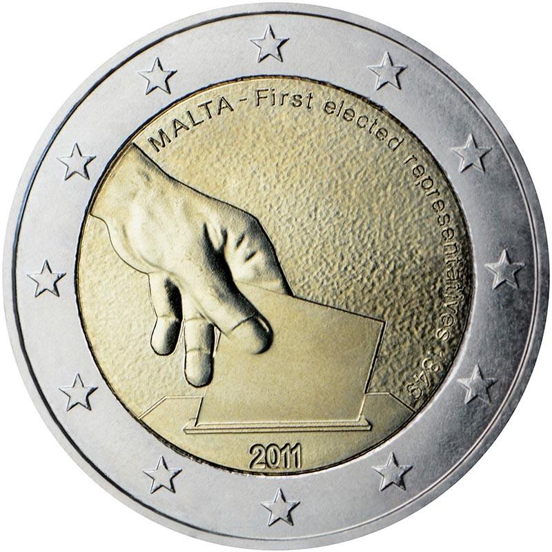 Malta 2011 - 2 euro commemorativo 1° moneta della serie dedicata alla storia della costituzione.