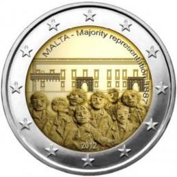 Malta 2012 - 2 euro commemorativo 2° moneta della serie dedicata alla storia della costituzione.