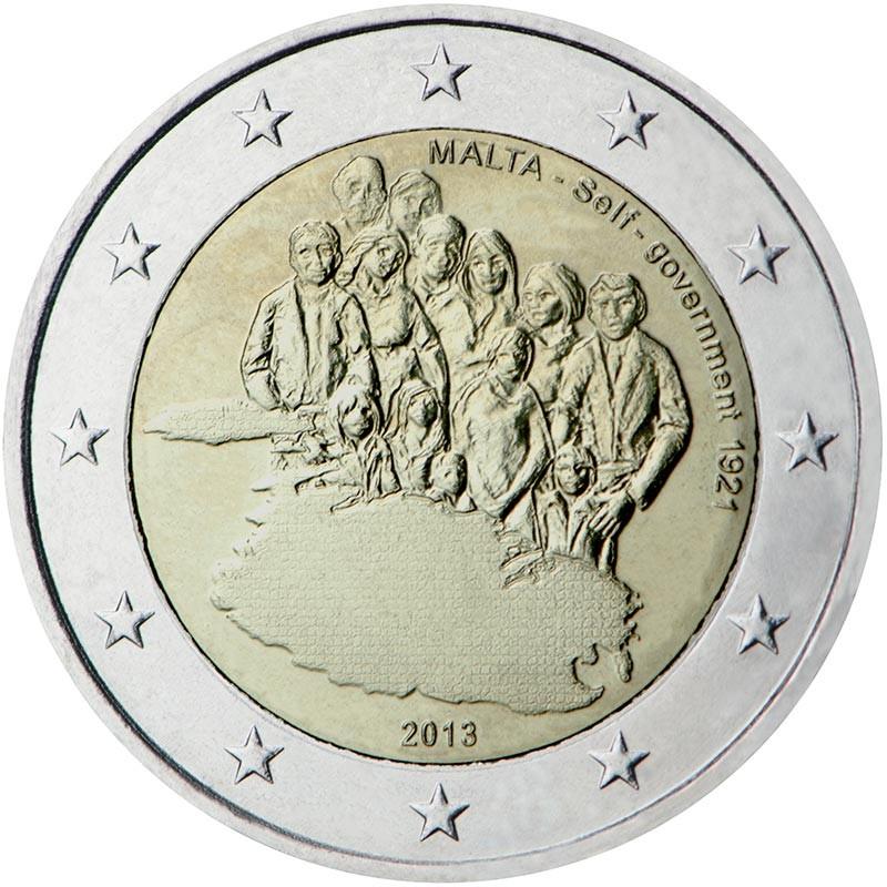 Malta 2013 - 2 euro commemorativo 3° moneta della serie dedicata alla storia della costituzione.