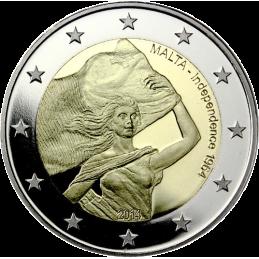 Malta 2014 - 2 euro commemorativo 4° moneta della serie dedicata alla storia della costituzione.