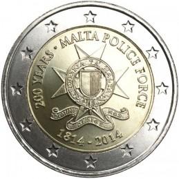 Malte 2014 - 2 euros 200 ° Forces de police maltaises