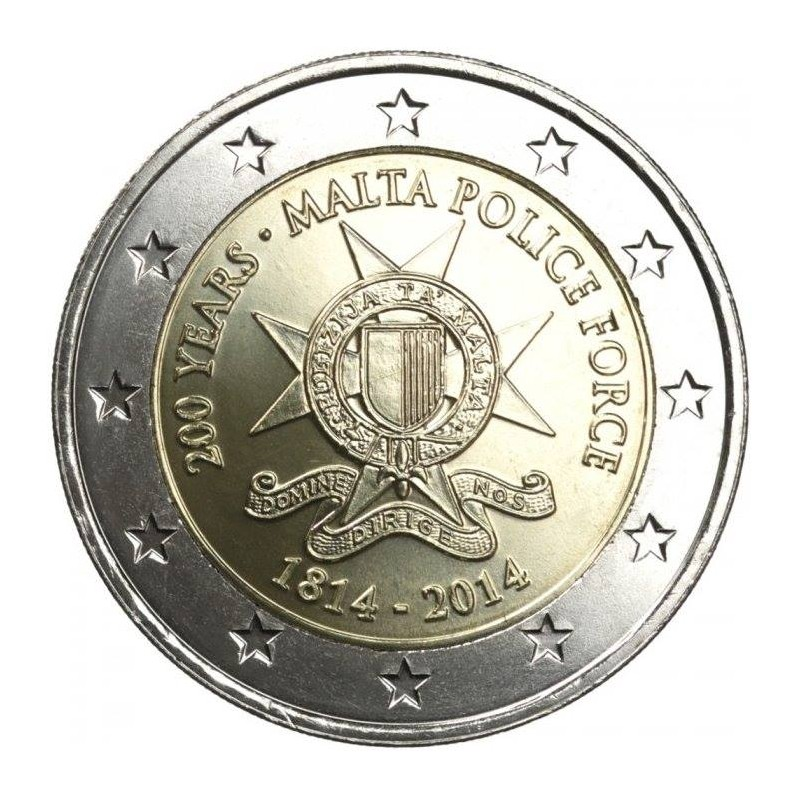 Malta 2014 - 2 euro 200 ° Maltese Police Forces