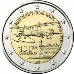Malta 2015 - 2 euro commemorativo 100° anniversario del primo volo dall'isola.