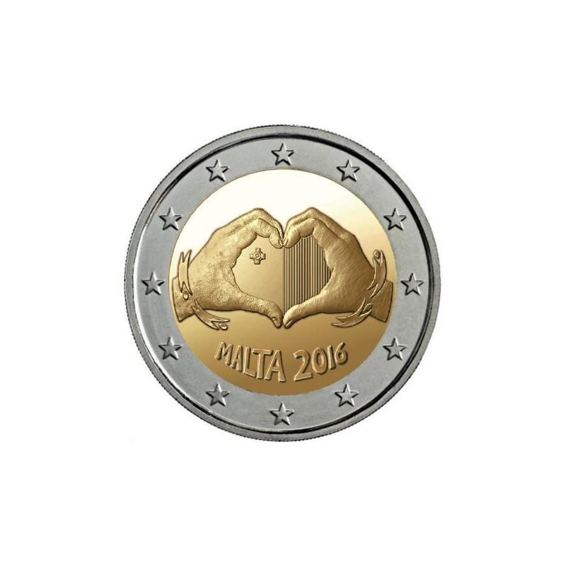 Malta 2016 - 2 euro commemorativo 1° moneta della serie 'Dai Bambini con Solidarietà'