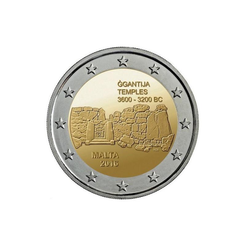 Malta 2016 - 2 euro commemorativo 1° moneta della serie dedicata ai siti preistorici maltesi.